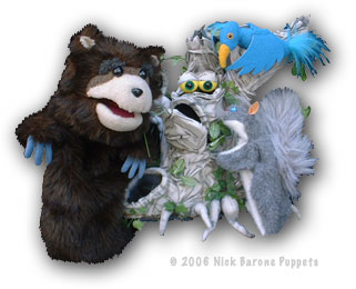 Puppets: Grumpy Tree with Animals
